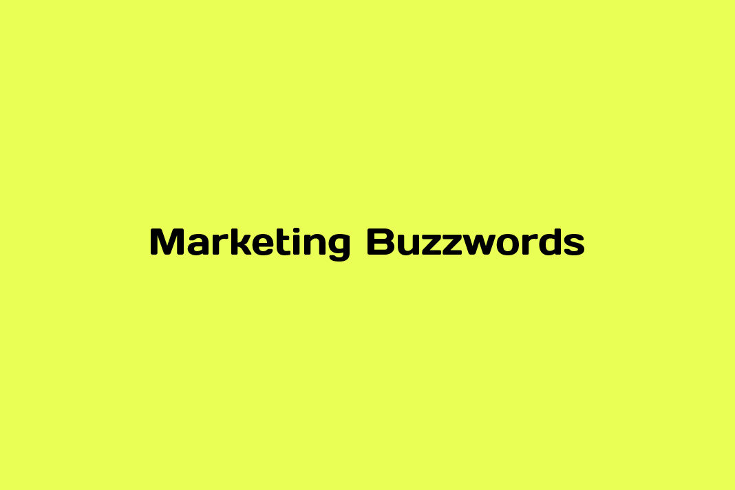 marketing buzzwords