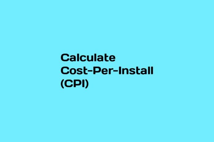how to calculate cpi