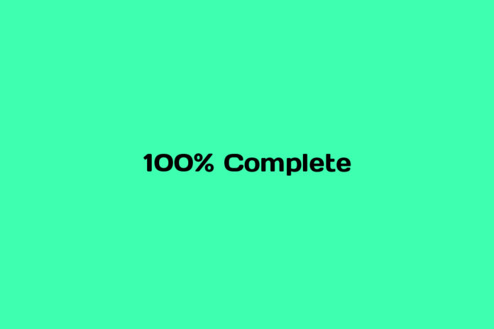 what is 100% video complete