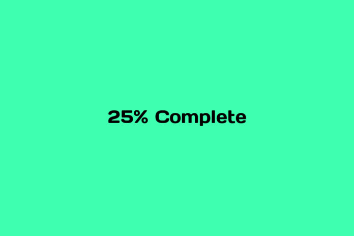 what is 25% video complete