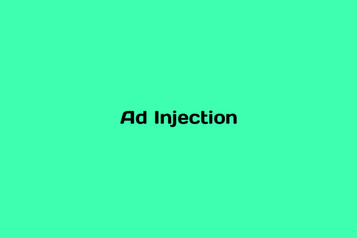 what is an ad injection