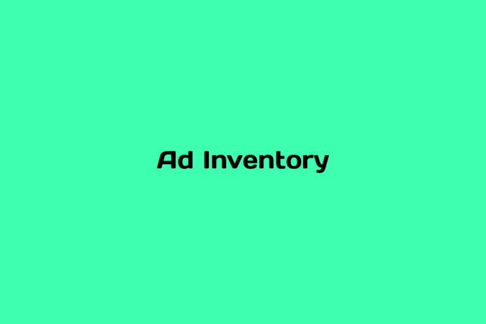 what is ad inventory