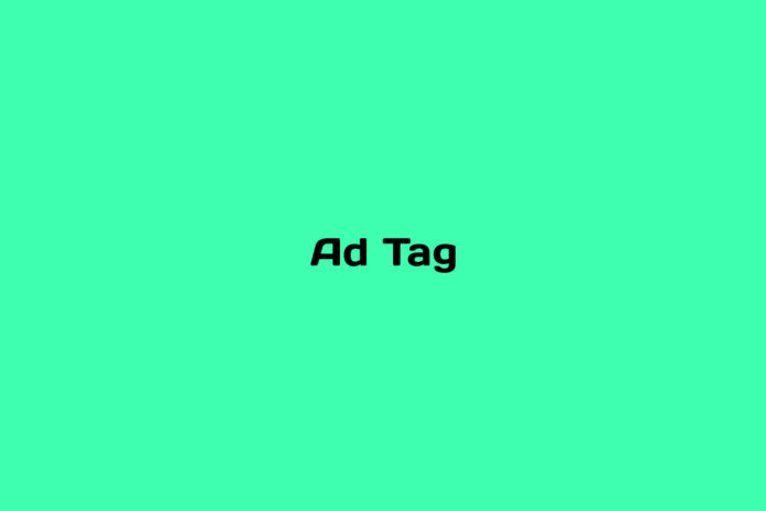 what is an ad tag