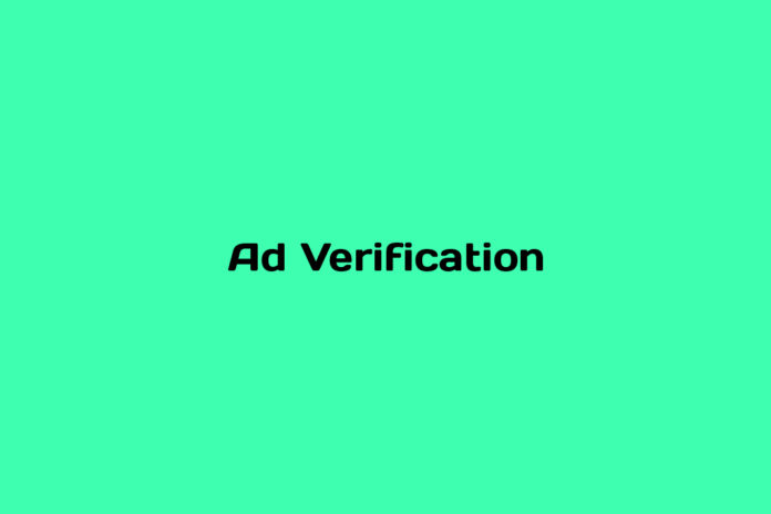 what is ad verification