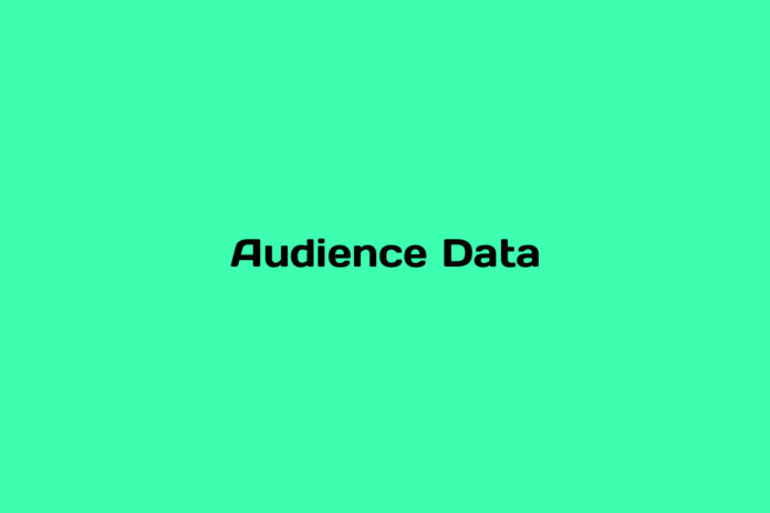 what is audience data