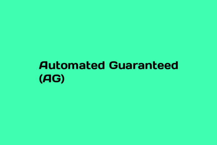 what is automated guaranteed ag