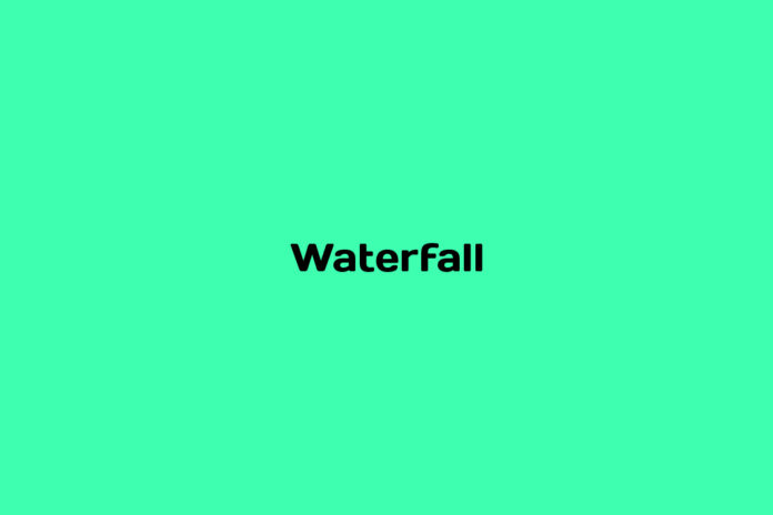 what is a waterfall