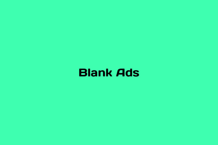 what are blank ads