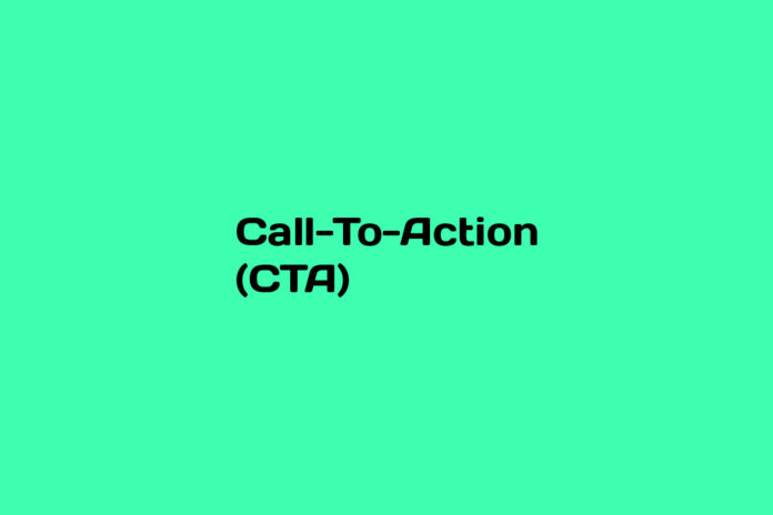 what is a call to action cta