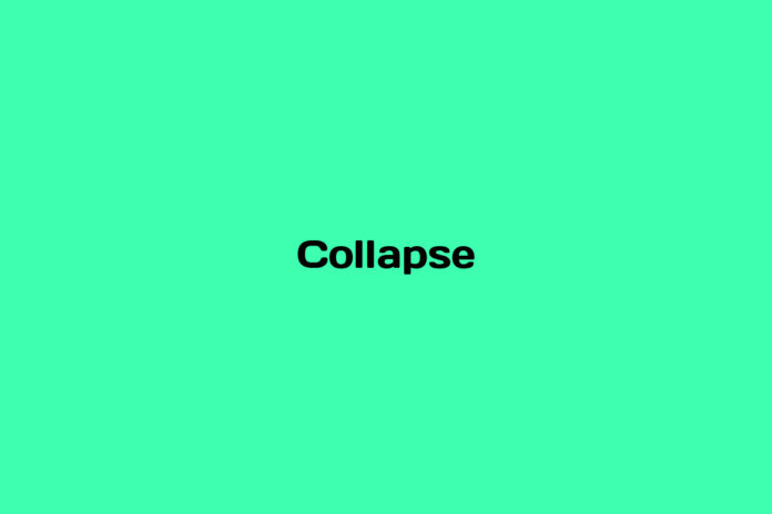 what is a collapse