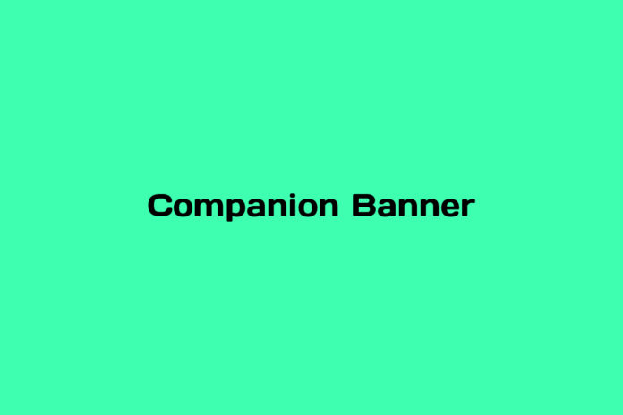 what is a companion banner