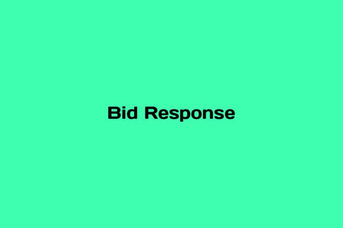what is a bid response
