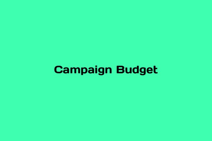 what is campaign budget