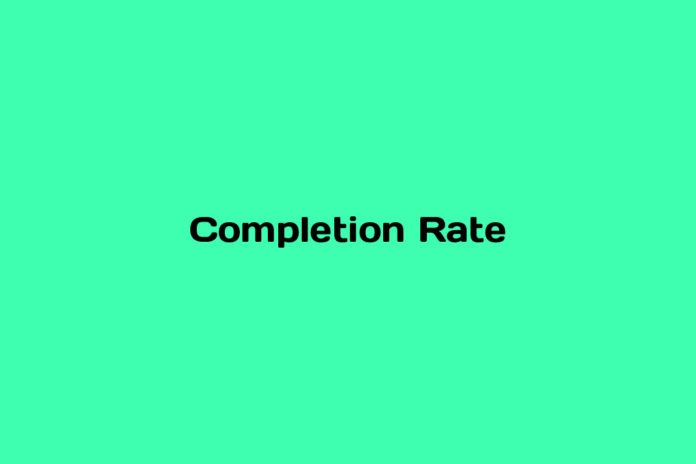what is completion rate