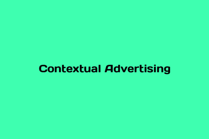 what is contextual advertising