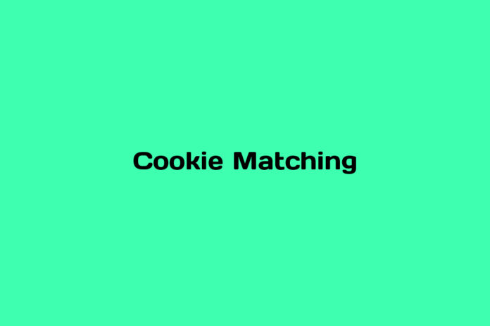 what is cookie matching