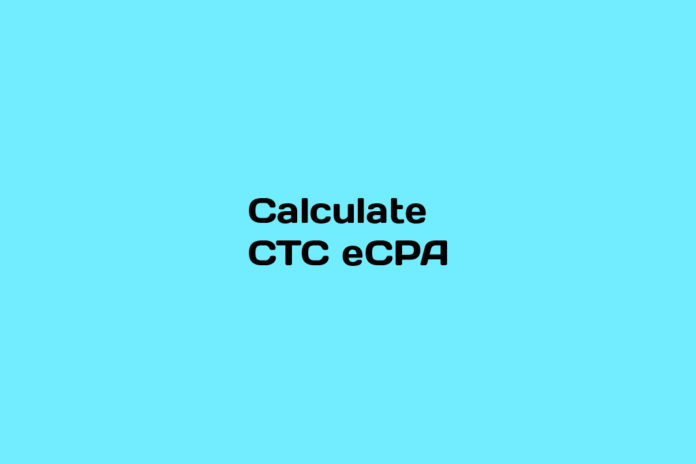 How to calculate CTC eCPA