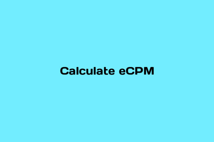 how to calculate ecpm