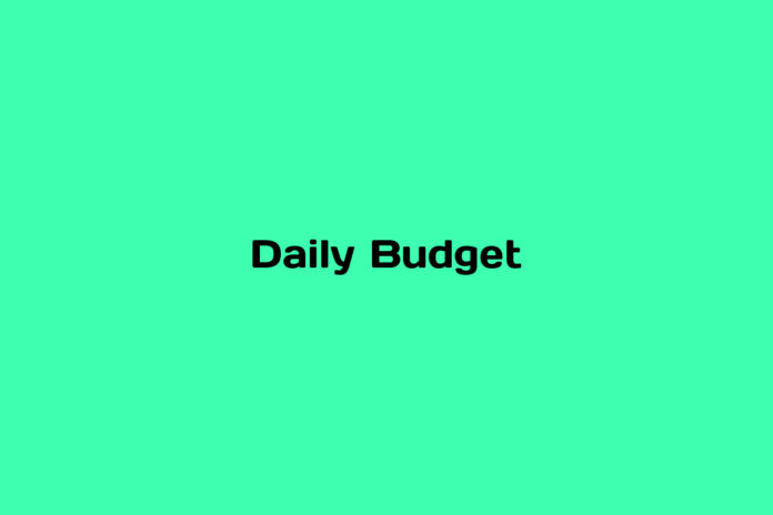 what is daily budget