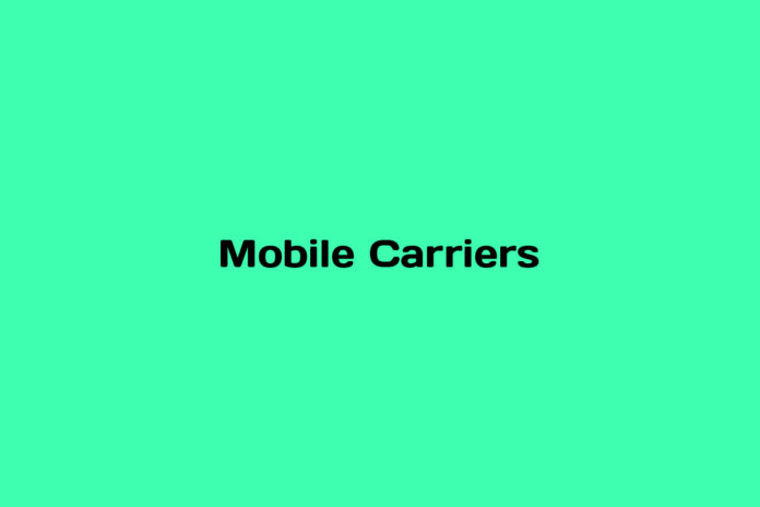 What is a Mobile Carrier