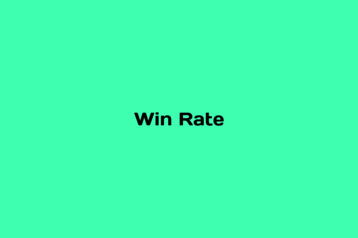 What is Win Rate